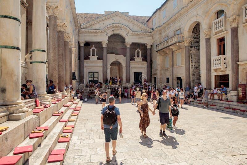 Diocletian分裂的` s宫殿,克罗地亚 图库摄影