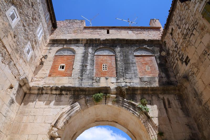 Diocletian宫殿,分裂 库存图片