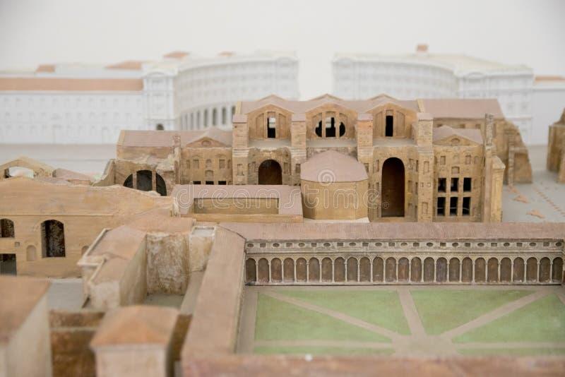 Diocletian浴的模型  罗马 免版税图库摄影