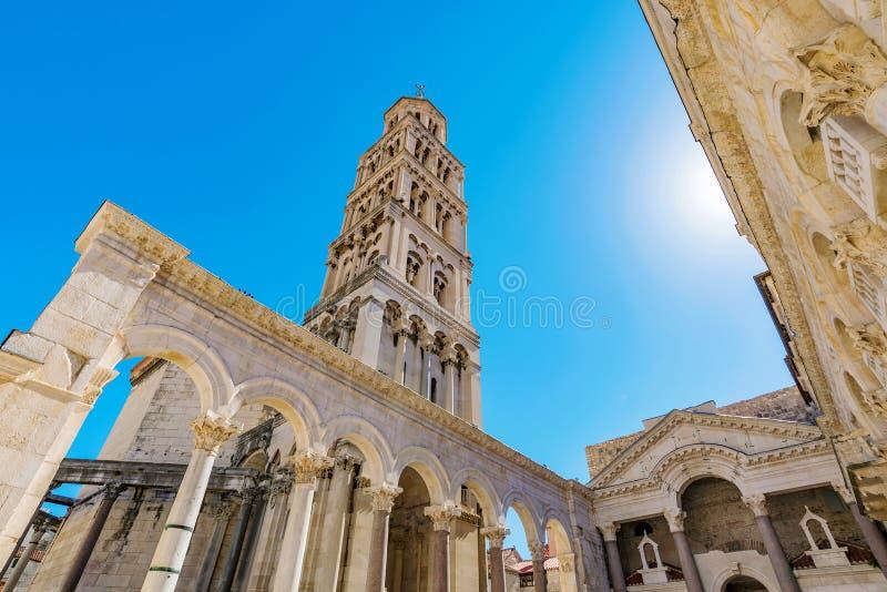 Diocletian& x27; 分裂的s宫殿 库存照片