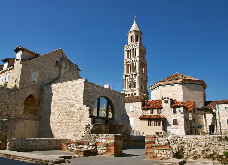 Diocletian palace in Split royalty free stock photo