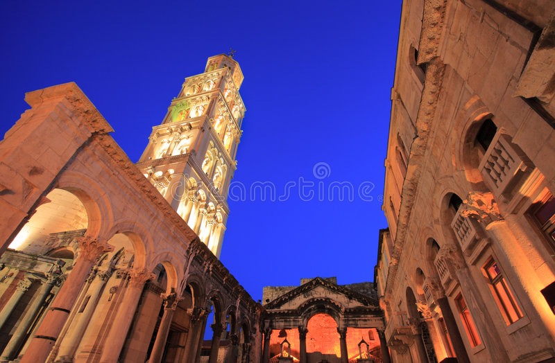 Diocletian's palace in Split royalty free stock images