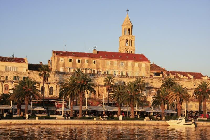 Diocletians Palast, aufgeteilte Ufergegend stockfotos