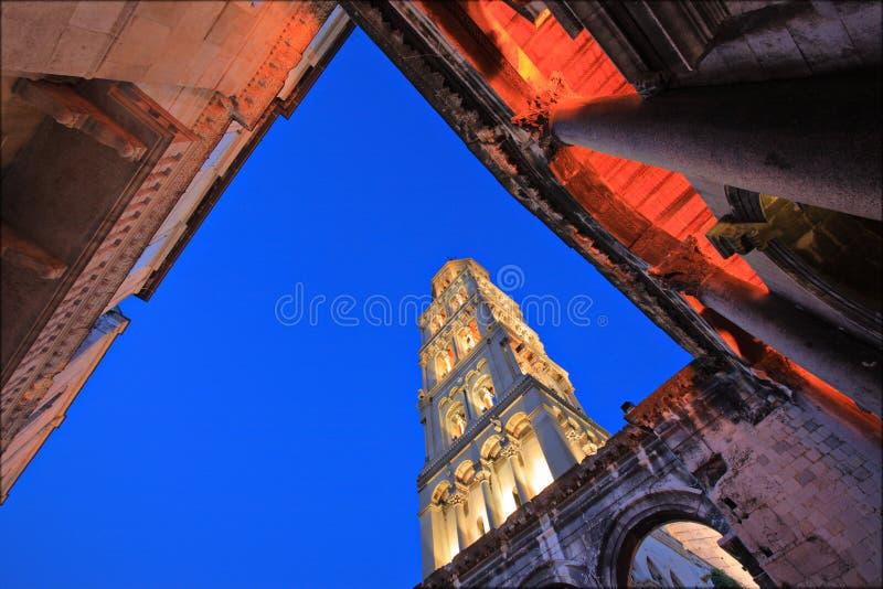 Diocletians Palast in der Spalte, Kroatien lizenzfreies stockbild