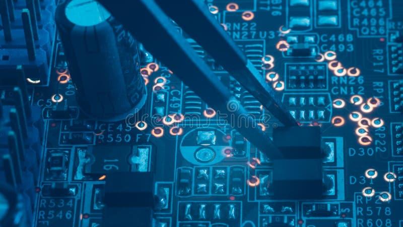Diod di montaggio della resistenza del componente elettronico di Smd immagini stock