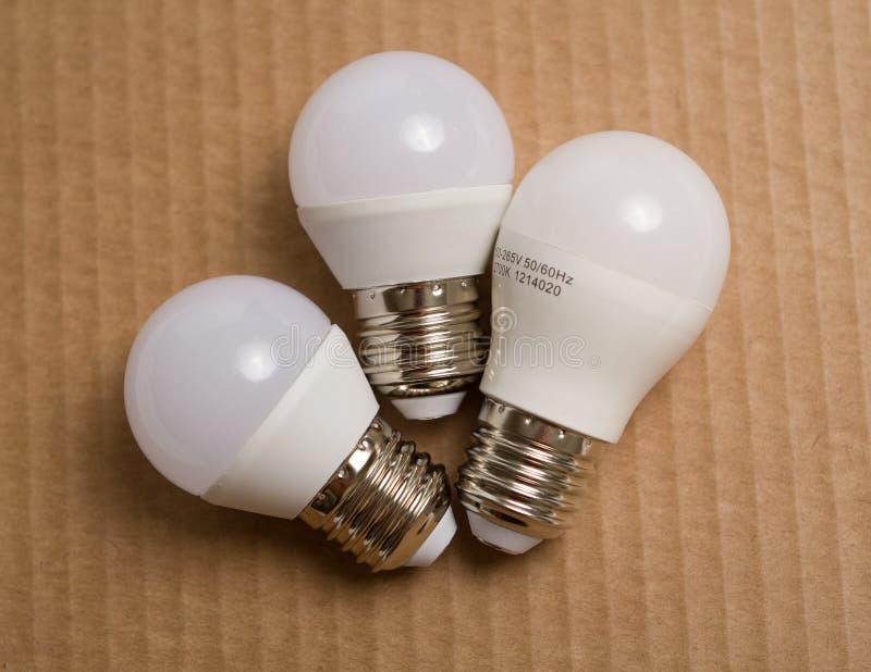 Diode bulb closeup simple composition royalty free stock photos