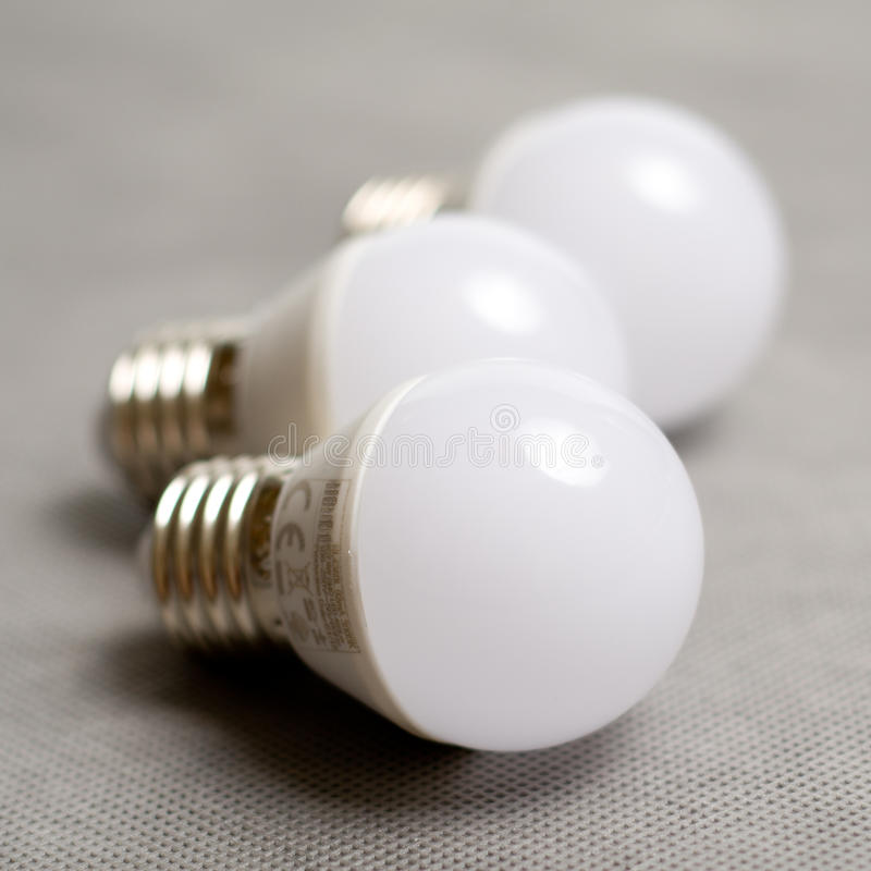 Diode bulb closeup simple composition stock images