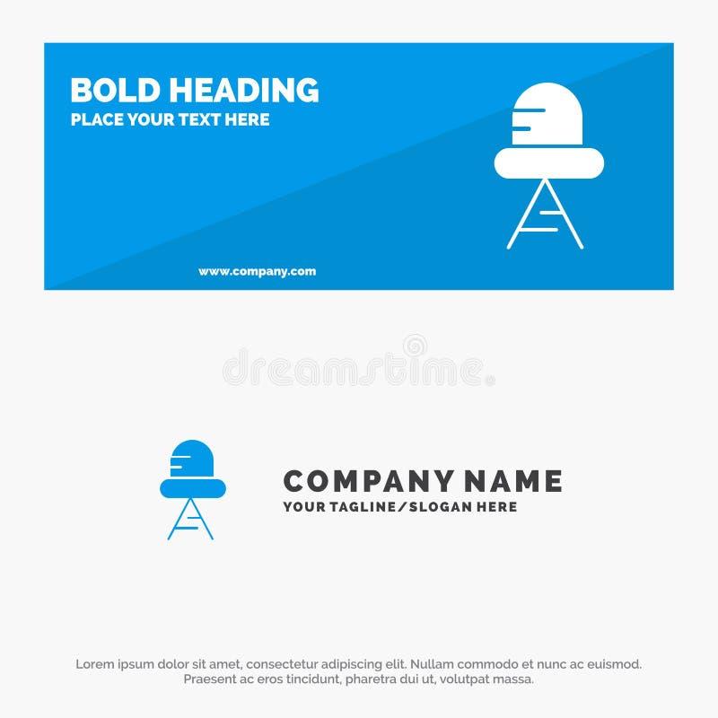 Diode, de Geleide, Lichte Stevige Banner en Zaken Logo Template van de Pictogramwebsite stock illustratie