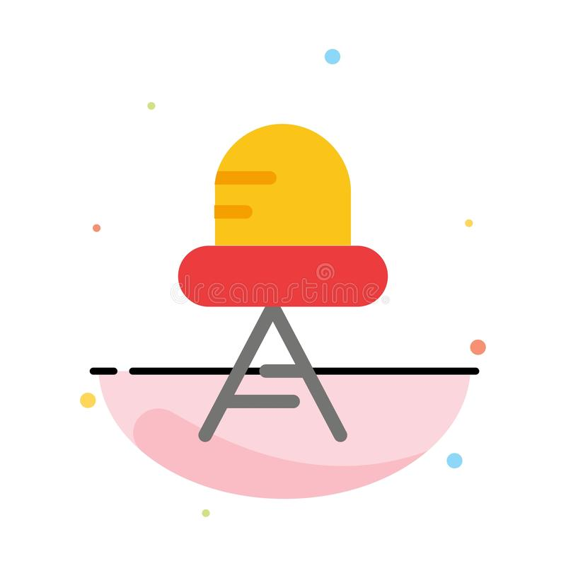 Diode, Led, Light Abstract Flat Color Icon Template stock illustration