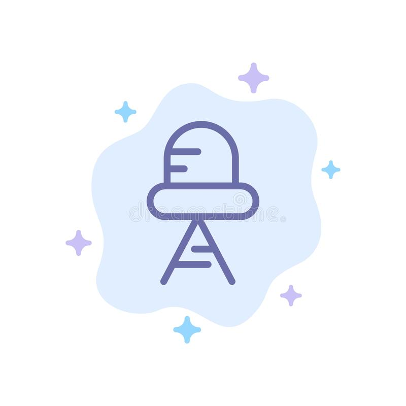 Diode, Led, Light Blue Icon on Abstract Cloud Background vector illustration