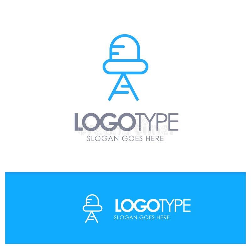 Diode, Led, Light Blue Outline Logo Place for Tagline stock illustration