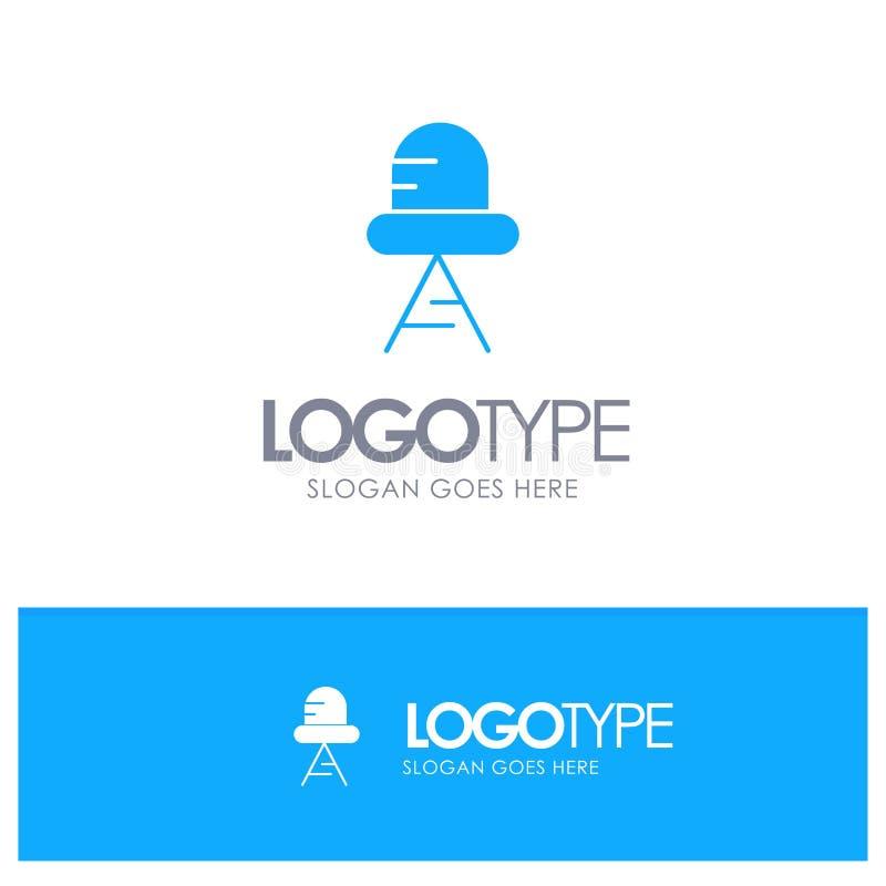 Diode, Led, Light Blue Solid Logo with place for tagline vector illustration