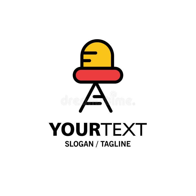 Diode, Led, Light Business Logo Template. Flat Color vector illustration