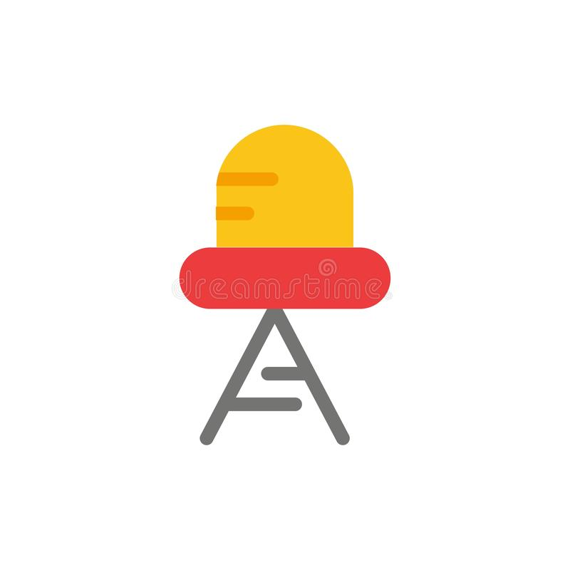 Diode, Led, Light  Flat Color Icon. Vector icon banner Template royalty free illustration