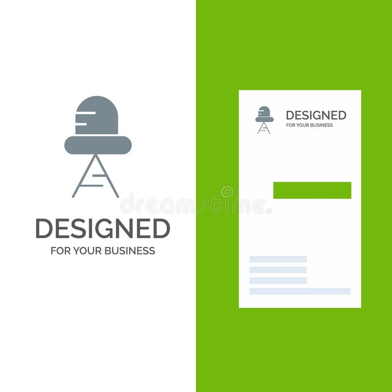 Diode, Led, Light Grey Logo Design and Business Card Template vector illustration