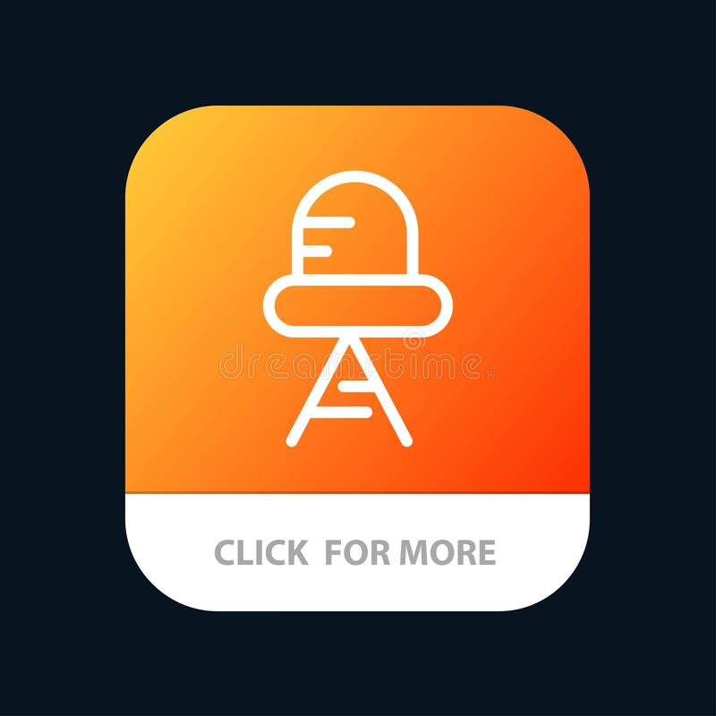 Diode, Led, Light Mobile App Button. Android and IOS Line Version stock illustration