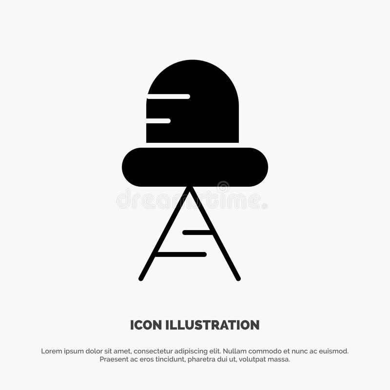 Diode, Led, Light solid Glyph Icon vector royalty free illustration