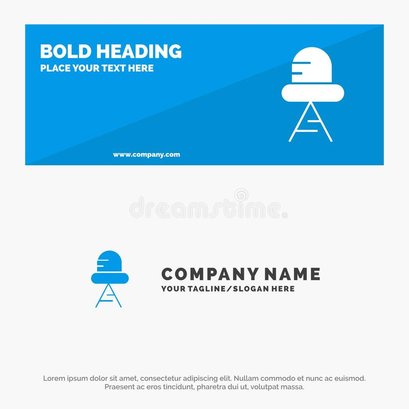 Diode, Led, Light SOlid Icon Website Banner and Business Logo Template stock illustration