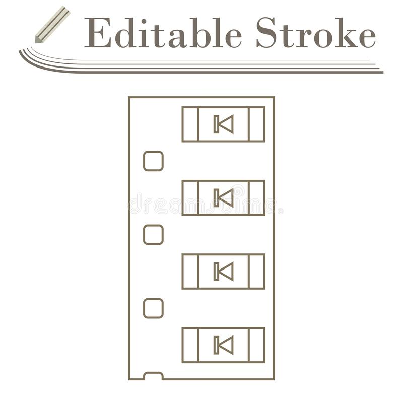 Diode Smd Component Tape Icon. Editable Stroke Simple Design. Vector Illustration royalty free illustration
