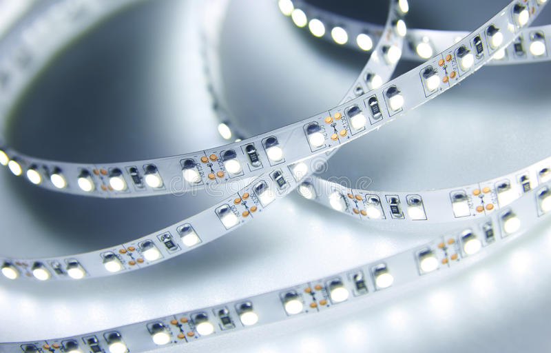 Diode strip. Led lights tape. Close-up stock photo
