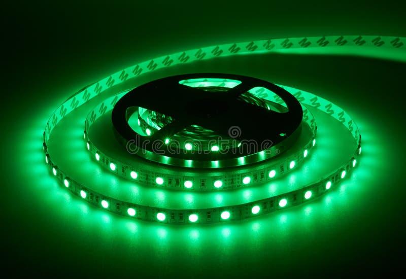Diode strip. Led lights tape. Reel royalty free stock image