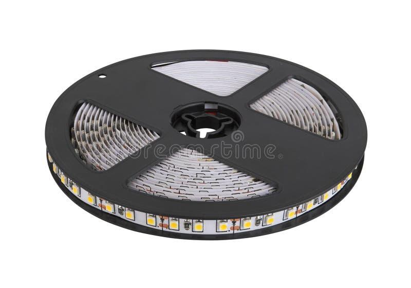 Diode strip. Led lights tape. Reel stock photo