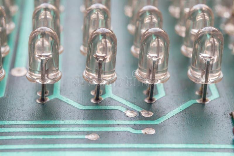 Dioder för strömkretsbräde arkivfoton