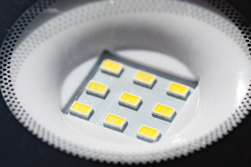 Diodes menées de lampe photographie stock