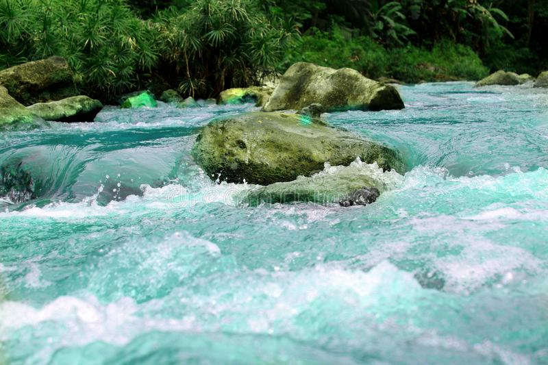 Diodiongan river Iligan city Philippines. Clear cold water from diodiongan falls flowing down to Mandulog River in Hinaplanon Iligan City Philippines royalty free stock photography