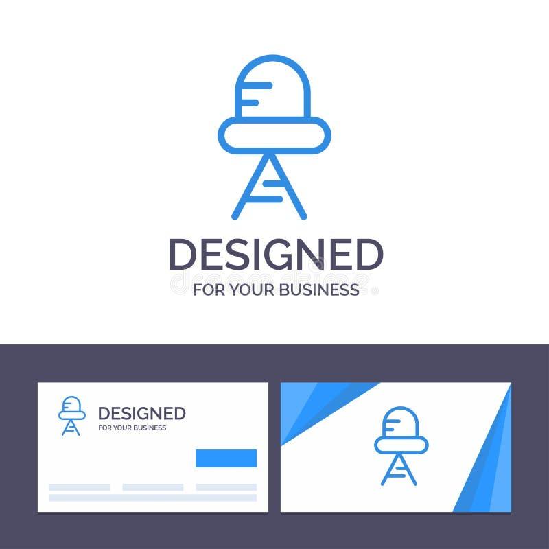 Diodo de visita de la plantilla creativa de la tarjeta y del logotipo, ejemplo llevado, ligero del vector libre illustration