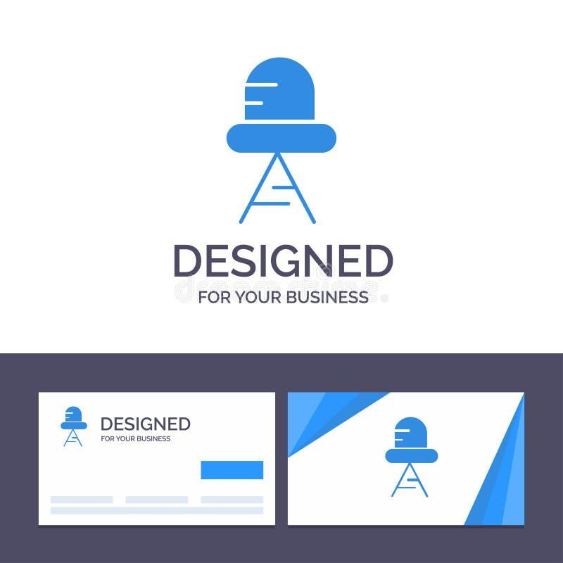 Diodo de visita de la plantilla creativa de la tarjeta y del logotipo, ejemplo llevado, ligero del vector ilustración del vector