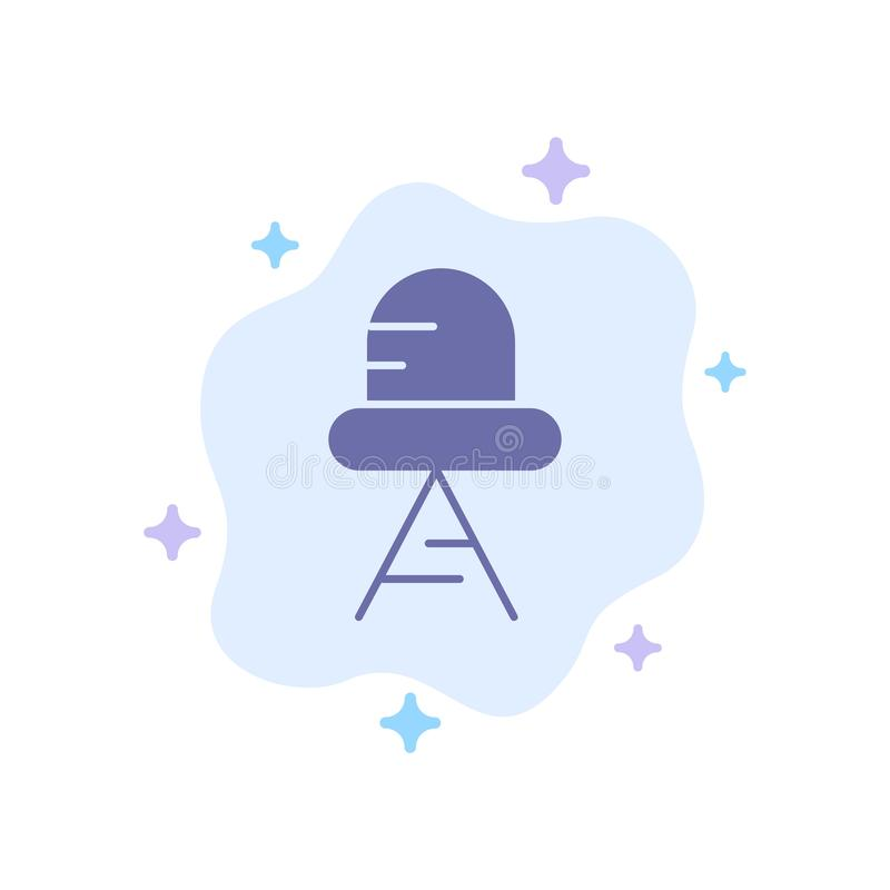 Diodo, icono llevado, azul claro en fondo abstracto de la nube ilustración del vector