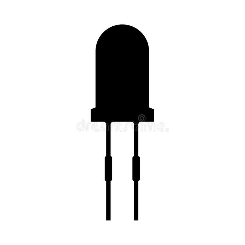 Diodo ligero es icono negro libre illustration