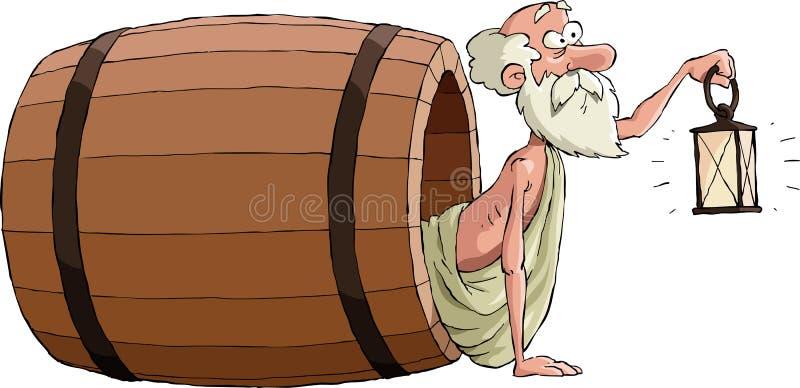 Diogenes stock de ilustración
