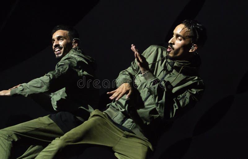 Diogo Piçarra artysty spełnianie na festiwalu muzyki zdjęcie royalty free