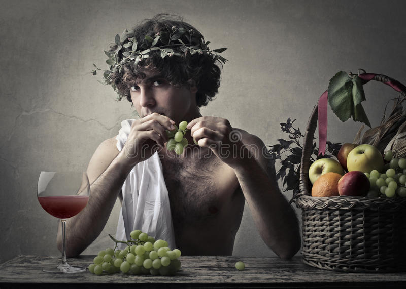 Dionysos royaltyfri fotografi