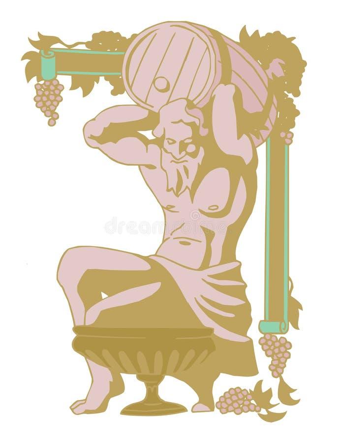 Dionysus ilustración del vector