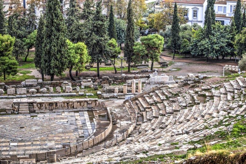Dionysus Theatre in Athens stock images