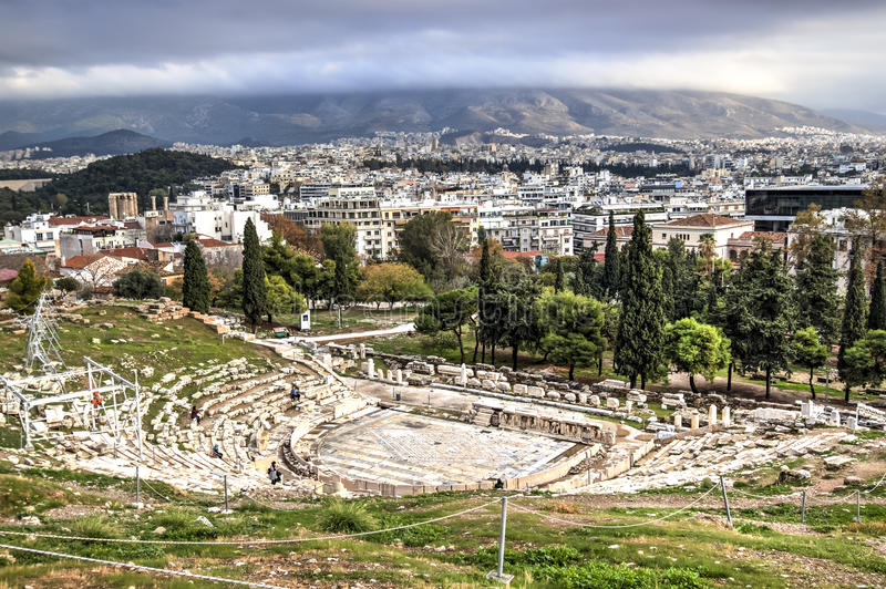 Dionysus Theatre in Athens royalty free stock images