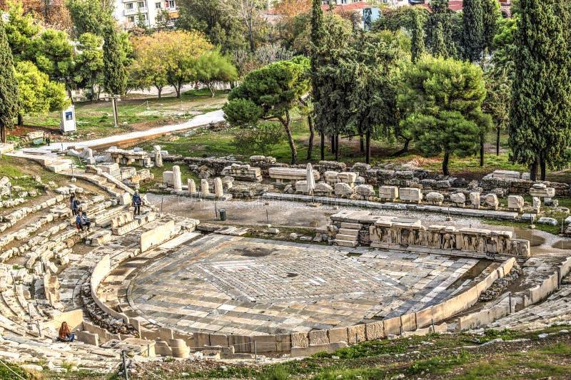 Dionysus Theatre in Athens stock image