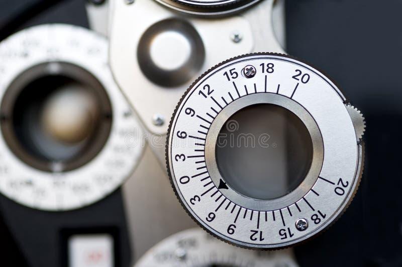 Dioptría del optómetra. fotos de archivo libres de regalías