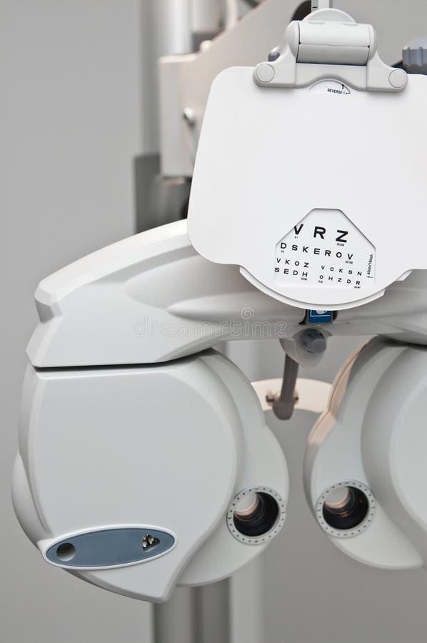 Dioptría moderna del optometrista fotografía de archivo