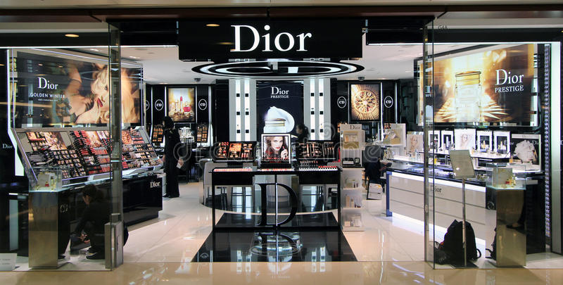 Dior商店在香港 免版税库存照片