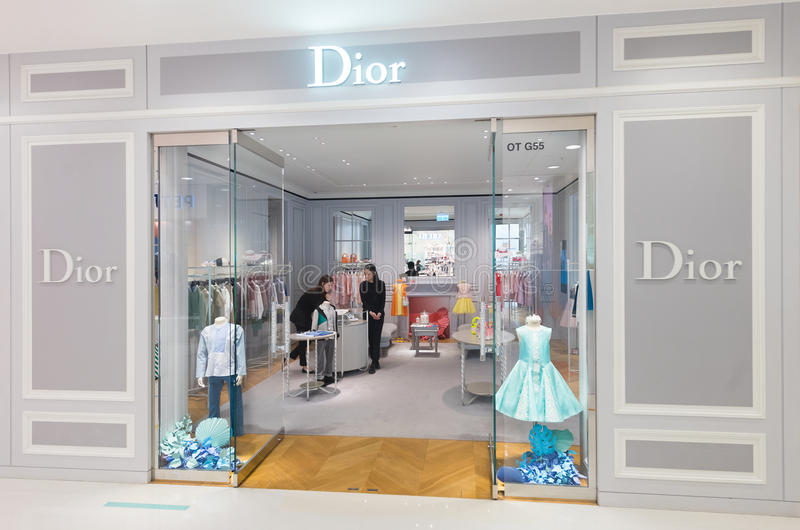 Dior childrens clothing store in Ocean Terminal, Hong Kong royalty free stock photography
