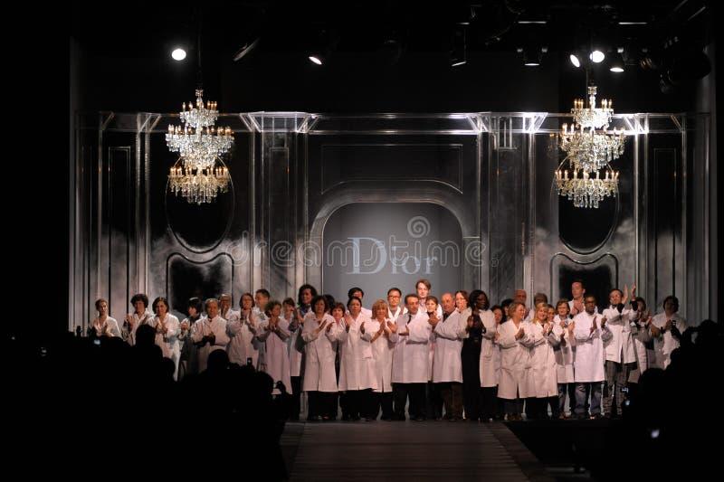 Dior - de manierweek van Parijs stock foto