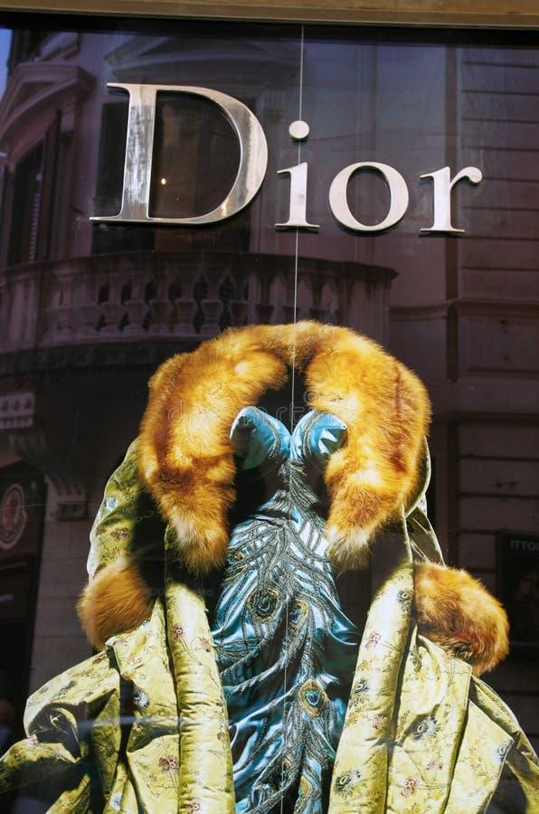 Dior fashion shop royalty free stock image