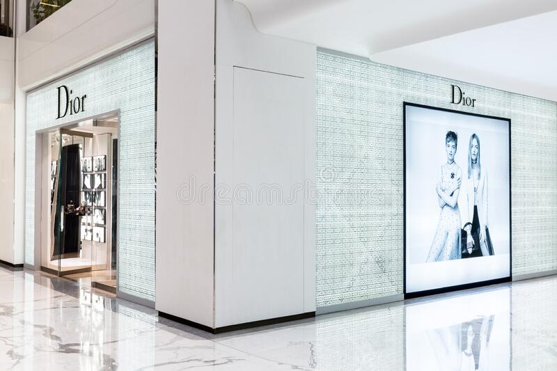 Dior fashion store in Beijing,China royalty free stock photography