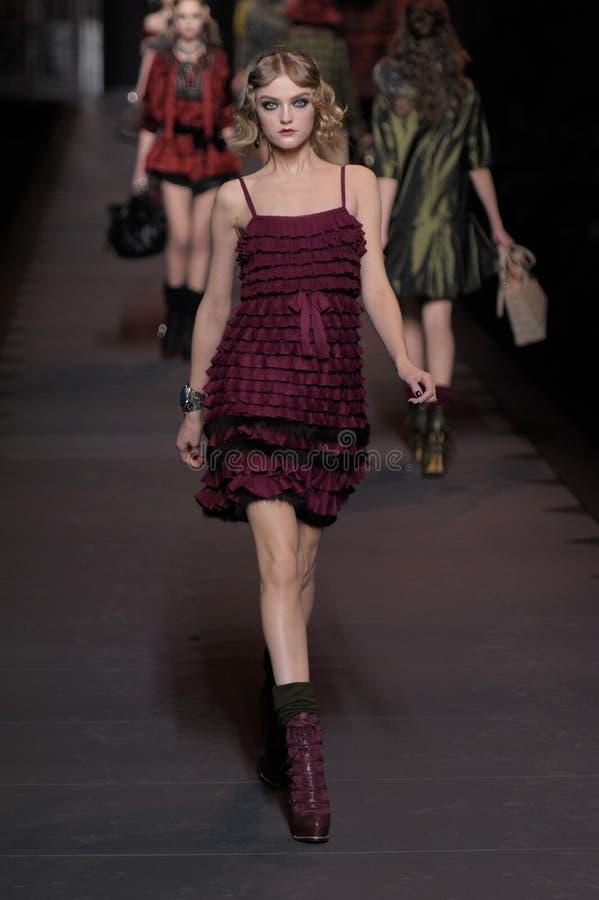 dior mody Paris tydzień obraz stock