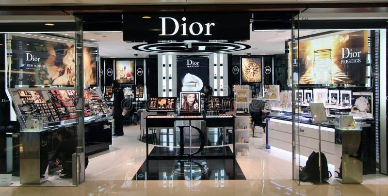 Dior shop in Hong Kong royalty free stock photo