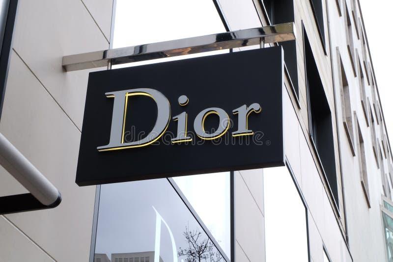 Dior Shop Logo in Frankfurt royalty-vrije stock foto